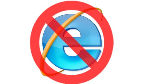 No Internet Explorer